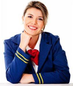 Travel agent smiling