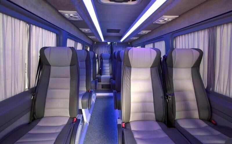 Interior view of VIP Mercedes Minibus